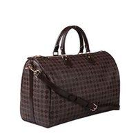 Wholesale Top quality women genuine Leather Keepall luggage handbag travel tote strap bag cm to buy