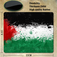 Cheap Wholesale-Best Seller Nice Palestine Flag Silicon Anti-slip Mouse Mats for PC Computer Laptop Notbook Gaming Mouse Mat