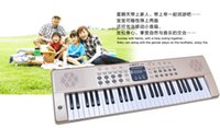 Wholesale Getting children key multifunction keyboard music enlightenment educational toys small piano microphone with power