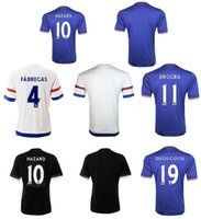 chelsea - 2015 Chelsea Soccer Jerseys home blue away white OSCAR FABREGAS HAZARD DIEGO COSTA DROGBA Football jerseys Thai Quality