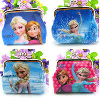 Wholesale 2015 Girls D Cartoon Frozen Coin Purse party favor Anna Elsa Olaf shell bag wallet Purses children Gifts For Holidays Christmas