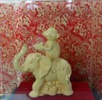 aluminum alloy ingot - 03 Zodiac Monkey Yellow Gold ingot elephant ornaments electroforming gold alluvial velvet arts and crafts festival souvenir gift