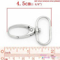 Wholesale Fashion Jewelry Key Chains Hook Lobster Swivel Clasps Trigger Clips Snap For Key Ring Silver Tone x3 cm B29864