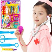 Wholesale 2015 New Dress Up Doctor Toy Tools in One Set Creative Funny Pretend Play Gift for Girls