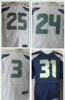 Cheap American Football Jerseys Seattle #3 #11 #12 #24 #25 #29 #31 grey blue white jersey,Elite Stitched,Accept mix order,size M L XL XXL XXXL