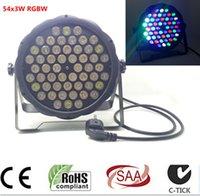 Wholesale 54X3W led par DJ Par LED RGBW Wash Disco Light DMX Controller