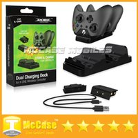 Cheap DOBE Dual Charging Dock Controllers Charger & 2 Rechargeable Batteries Charging Cable Charge Kit For Xbox One With Retail Box