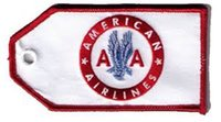 Fabric aa airline - AA American Airlines Retro Custom Embroidered Luggage ID Tags per