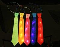 Wholesale led tie Stage Performance silk fabrics narrow boy tie
