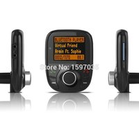 Wholesale Car Styling Bluetooth FM Transmitter Modulator MP3 Player Hands Free Car Kit With LCD Remote Support TF Voice Prompts New