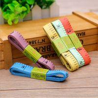Wholesale Sew Ruler Foldable Plastic Soft Tape colorful Pocket Ruler Measurement Tailor rubler Diet Cloth Ruler cm