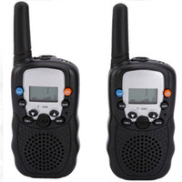 Wholesale Walkie Talkie portable ham radio T Black Mini Wireless LCD KM UHF VOX Multi Channels transceiver Way Radio