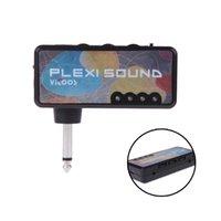 Cheap Portable Vitoos Electric Guitar Plug Mini Headphone Amp Amplifier Marshall Plexi Sound Top Quality