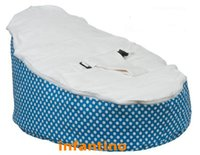 Wholesale Cotton fabric blue dots baby bean bag bed