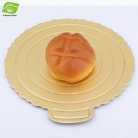 Wholesale 10pcs Exquisite New Arrival Cake Bottom Bracket Baking Paper Cake Tray Gold inch Cardboard Round Cake Pedestal dandys