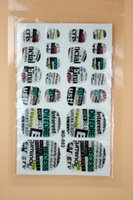 auto art stickers - MD002 Fashion Beauty Product d Toe Nail Art Foil Stickers Green English Letters Designer Manicure Auto Adhesive Decals