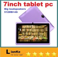 Wholesale 7 inch Q8 Q88 Allwinner A23 Dual Core Android Tablet PC Big Speaker M RAM G ROM Dual Cameras with Flash Big Horn Android dhl