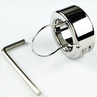 Wholesale 350g Testicle Balls Scrotum Pendant Stainless Steel Ball Stretchers Cock Ring Locking Real Men CBT Sex