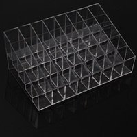 Wholesale 40 Trapezoid Clear Makeup Display Lipstick Stand Case Cosmetic Organizer Holder Hot sale High Quality BZ678406
