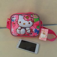 Wholesale Hello Kitty D school bag square three dimensional cartoon small satchel bag