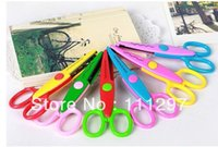 Wholesale Free fedex new cute Handmade DIY album lace art scissors Card pattern cartoon Gift scissors styles mixed color