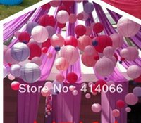 Cheap TOP- Free Shipping 12 Pcs Mixed Colors Chinese Light Paper Lanterns Wedding Party Decoration