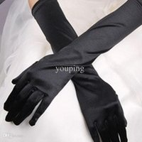 Wholesale Chic Women Gloves Wedding Stretch Halloween Satin Gloves Evening Party Prom Long Gloves