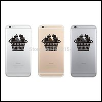 Cheap Wholesale-Fruits Personality Mobile Phone Sticker for iPhone 6   6 Plus   5s Decal Cellphone Vinyl Skin Adesivo Pegatina Para Mobile Phone
