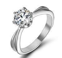 best diamond settings - AAA ct Cubic Zirconia Titanium steel jewelry Best Lovers Gift Bridal wedding ring Gift engagement diamond rings