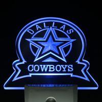 Wholesale ws0142 Dallas Cowboys Sport Bar Day Night Sensor Led Night Light Sign