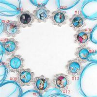 Wholesale Fashion Kids Frozen Necklaces Cartoon Princess Necklaces Riband Necklace fit Frozen Fashion Jewelry