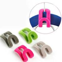 Wholesale 10 Random Color Home Creative Mini Flocking Clothes Hanger Easy Hook Closet Organizer New Hot Sale