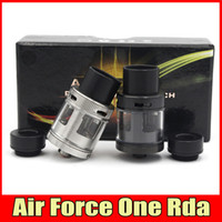 air force ring - Air Force One RDA Rebuildable Dripping Rda Atomizers Huge Vape With Wide Bore Drip Tips Top AFC Ring Vaporizer Fit Box Mods DHL