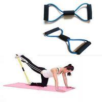 Wholesale Resistance Training Bands Rope Tube Workout Exercise for Yoga Type Fashion Body Fitness FOL