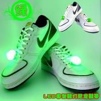 Wholesale Colorful LED Shoelace Nylon Decoration Shoelace Shoe Laces LED Light Shoelace Flashing Party Shoe Laces Hot Sale Xmas Gift