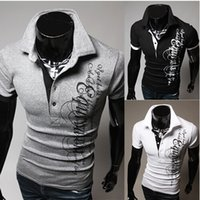 Cheap Men'S Fashion Brands New Short-Sleeved Polo Shirt, Men'S Casual Breathable Solid Color Polos Hombre Camisa M ~ XXL