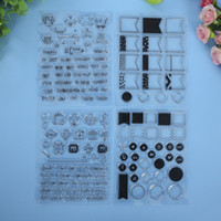 baby arrival cards - New Arrival Sets of flags rounds boy girl new baby craft stamps silicone clear stamps for scrapbooking card making