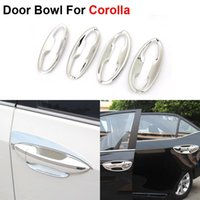 Wholesale New ABS Chrome Styling Car Door Bowl Cover Frame For Toyota Corolla Auto Accessories High Quality