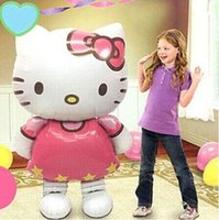 large inflatables - Large x58cm Hello Kitty Cat Foil Balloons Cartoon Birthday globos Decoration Wedding Party Inflatable Air Balloons Drop Shipping LY