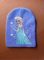 Girl Winter Crochet Hats 2014 Autuma winter hats Frozen elsa anna sun hat Children's beach hat UV cap accessories caps bone snapback beanie bucket hat Knitting warm