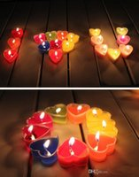 Wholesale Lovely Heart Candle Colorful Wax Candle Romantic Wedding Birthday Party Decoration