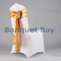 satin chair sash - Gold Color Satin Chair Sash For Chair Cover
