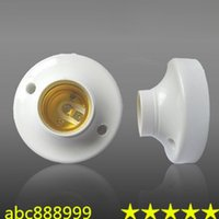 Wholesale White ABS Material E27 Lamp Base Holder DHL E26 X100PCS