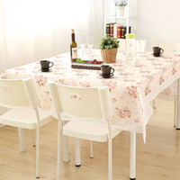 Wholesale Freeshipping Tablecloth Lace Table Cloth Knitted Vintage Dining Table Cover Knitting Hollow Out Sizes Banquet Kitchen Wedding