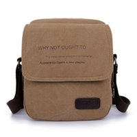 Wholesale 2015 Men s Travel Bags Cotton Canvas Vintage Messenger Bags Casual Shoulder Bags Brown Black Bolsas for Men