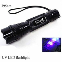 Wholesale 3W WF B CREE UV LED Flashlight Purple Light UV nm Ultraviolet Flash Torch Lamp Portable Lantern Linternas Money Stain Detector