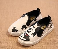 animal print fabric for kids - children shoes Autumn Cartoon Cute child sneakers Canvas Kids shoes for Boys Girls Size