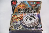 Wholesale 1piece BEYBLADE Rapidity Diablo Nemensis w Launcher METAL FURY children gift BB120