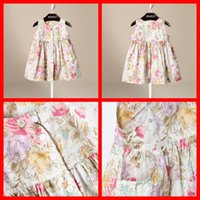 floral print dress - 2015 New Arrival Baby Girls Cute Floral Print Dresses Pocket Sleeveless Princess Dress Kid Girl Summer Fashion Dress