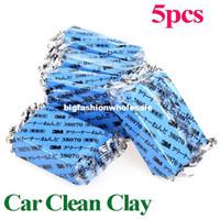 Cheap 5Pcs set Car Auto Magic Car Clean Clay Bar Detailing Wash Sludge Mud Remove Blue Auto Detailing Cleaner free shipping